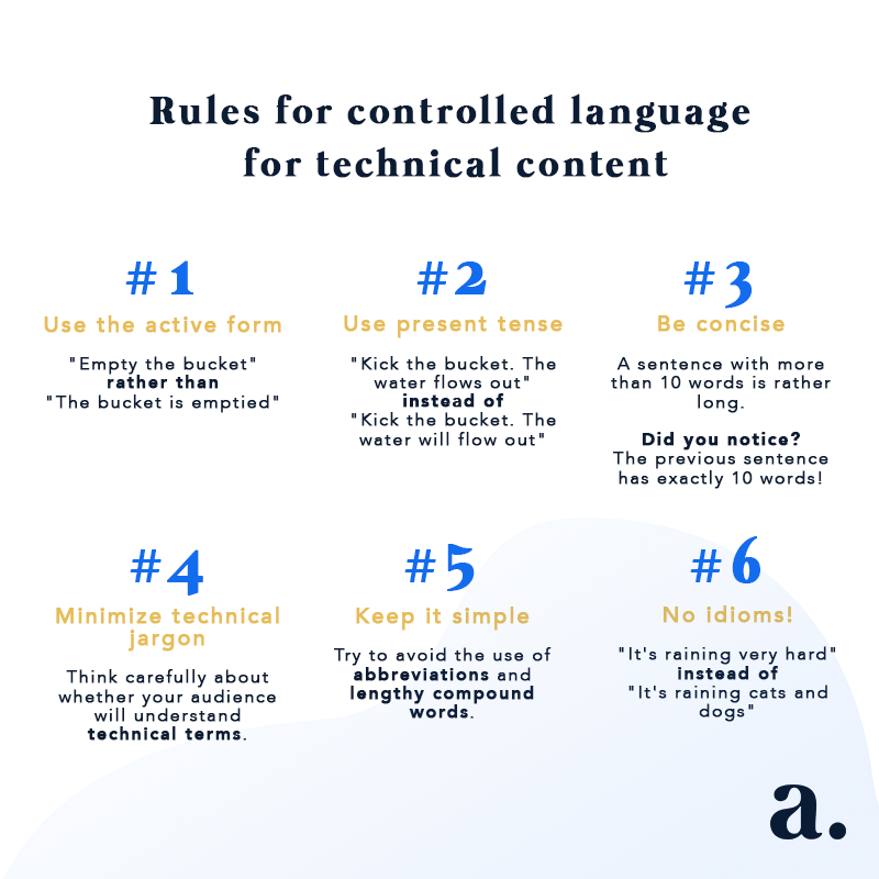 6 rules for technical content