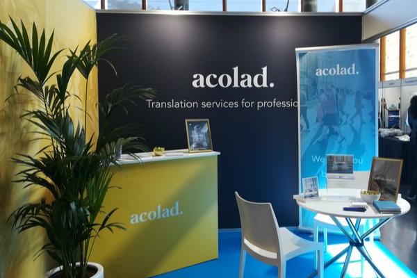 Acolad stand LocWorld Translation services